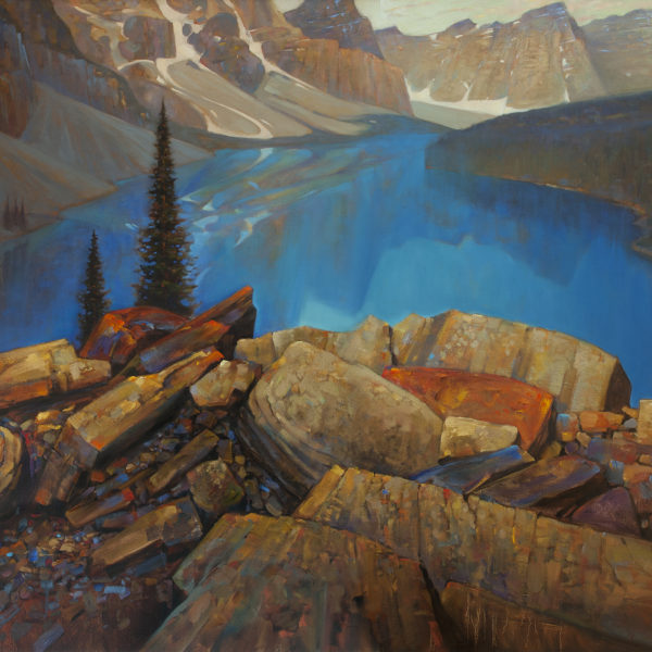 'Above Moraine' 4 X 5ft. oil on canvas, Mountain Galleries.
