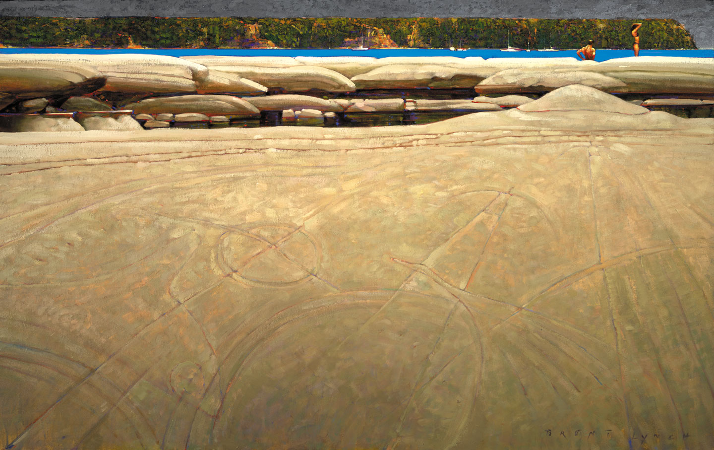 Hornby Island BC, 36 X 48 in. oil on canvas