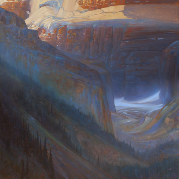 """Rising From Louise' 4 X 5 ft. oil on canvas, Mountain Galleries."