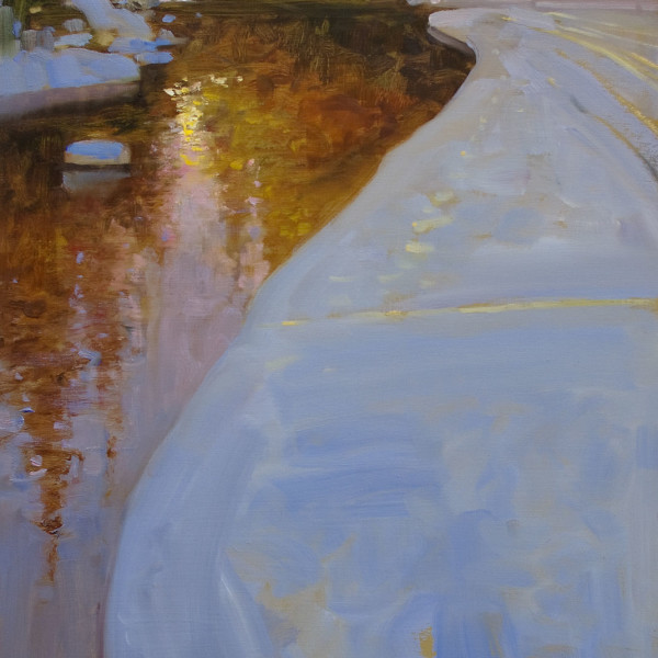 'River of Golden Dreams' 18 X 24 in. oil on prepared board. Mountain Gallery. copyright Brent Lynch