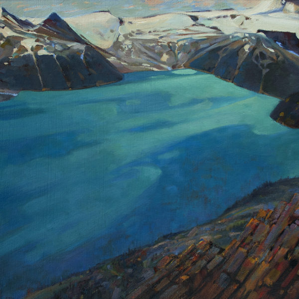 'Above Garibaldi' 16 X 20 in. oil on prepared board. Mountain Galleries.