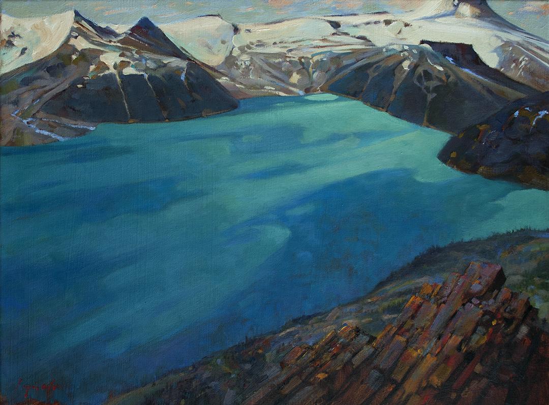 'Above Garibaldi' 16 X 20 in. oil on prepared board. Mountain Galleries.