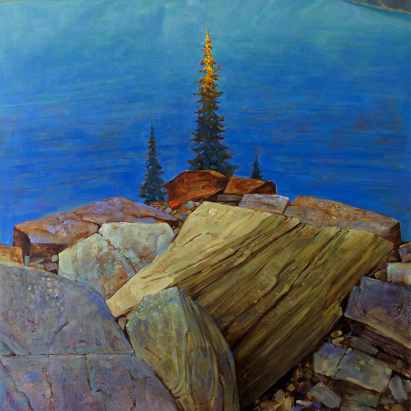 'Above Moraine' 40 X 60 in. oil on canvas. Mountain Galleries, Jasper. copyright Brent Lynch