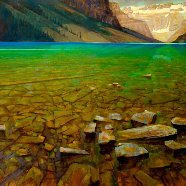 'Across Louise'  36 X 48 in. oil on canvas - Mountain Galleries. copyright Brent Lynch
