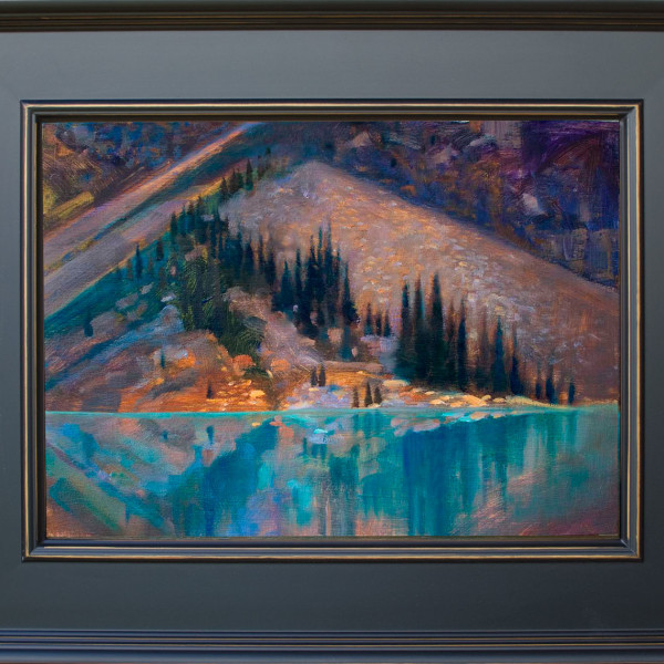 'Giant Fan' Moraine Lake, Banff National Park  16 X 20 in. oil on prepared board