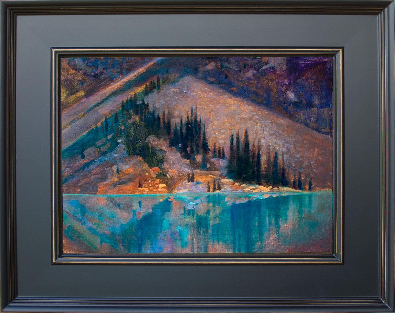 'Giant Fan' Moraine Lake, Banff National Park  16 X 20 in. oil on prepared board