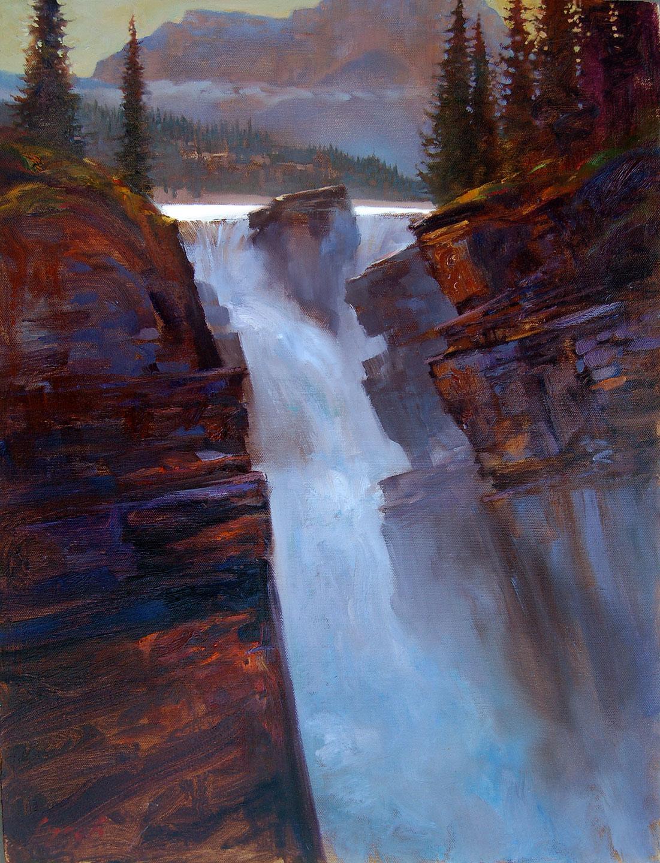 Jasper National Park 2006 oil on canvas 16 X 254 in. copyright Brent Lynch.