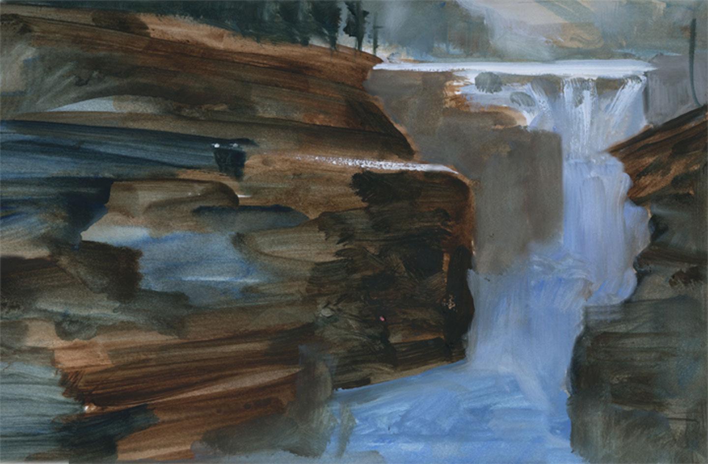 Jasper National Park 2014. 12 X 18 watercolour