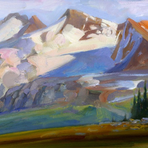 Whistler BC 2010. 12 X 16 in. oil on prepared board.