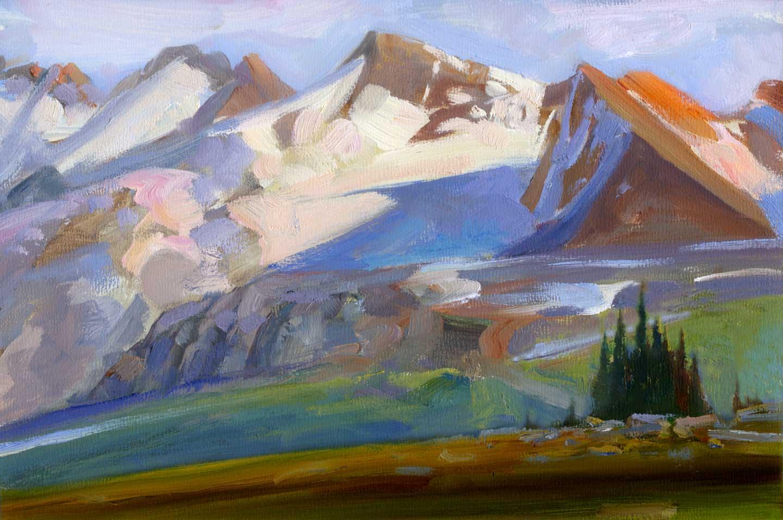 Whistler BC 2010. 12 X 16 in. oil on prepared board.