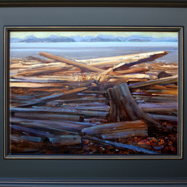 Quadra Island BC, 11 X 14 in. oil on prepared board.