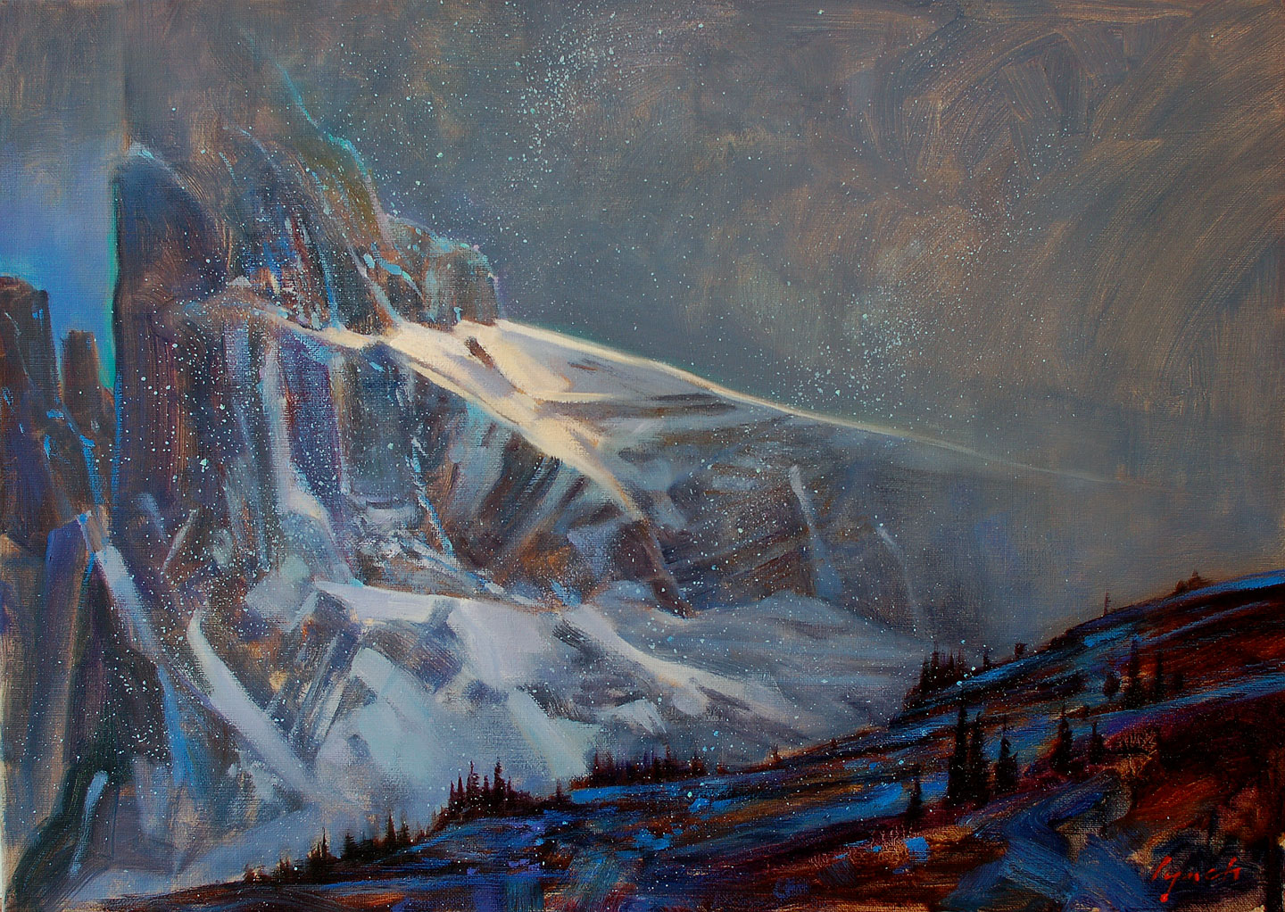 'Black Tuck, Early Snow' 16 X 20 in. oil on canvas 2014