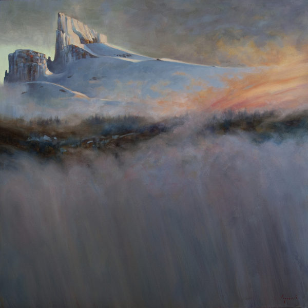 'Black Tusk Rising' 48 X 48 in. oil on canvas