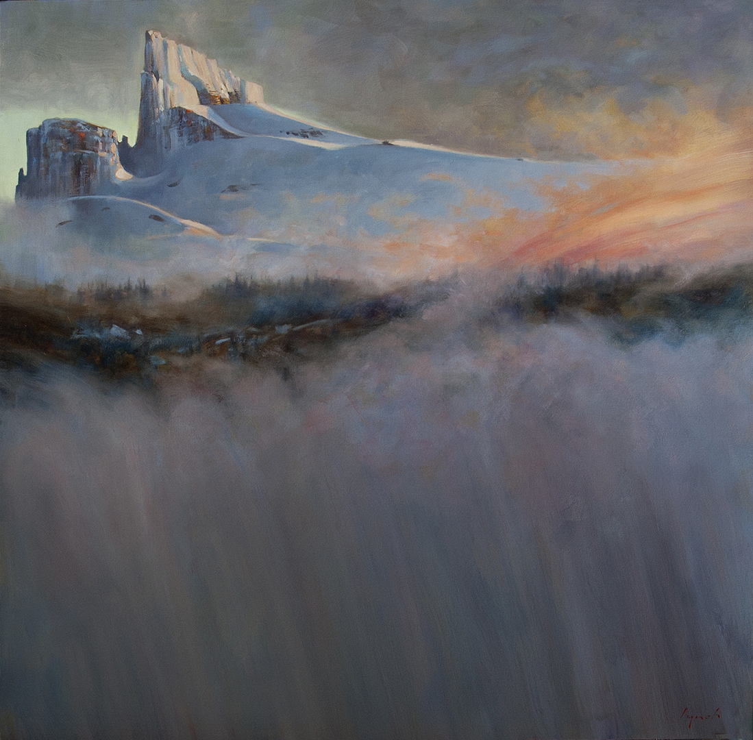 'Black Tusk Rising' 48 X 48 in. oil on canvas - Mountain Galleries