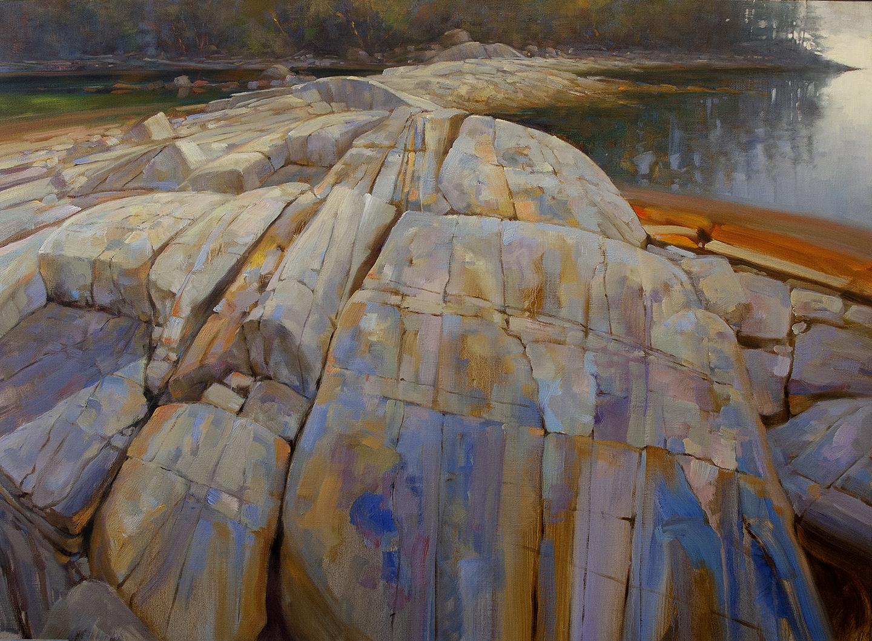 'Escarpment' Brickyard. 36 X 48 in oil on canvas - The Avenue Gallery