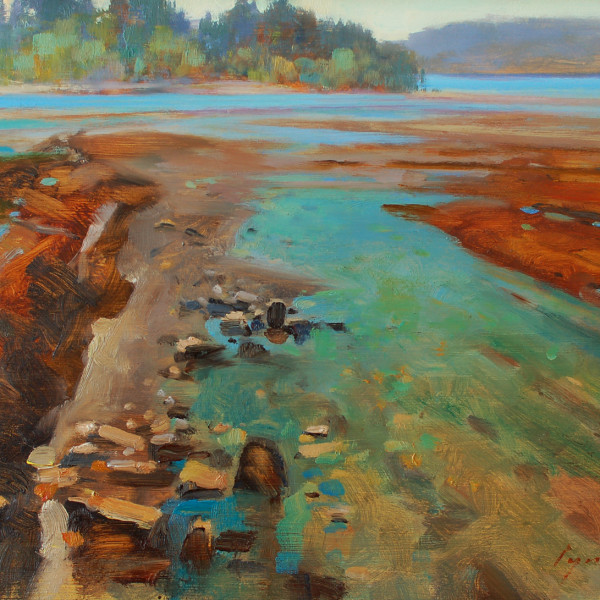 Saturna Island BC, 12 X 16 in. oil on prepared board.