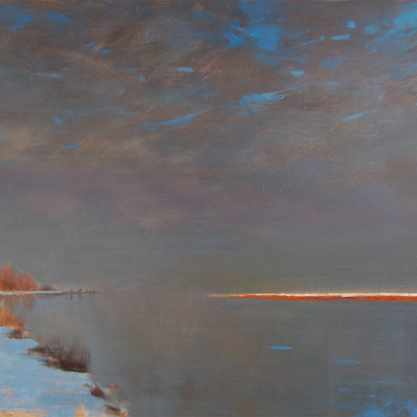 Fraser River Mouth, Ladner BC 2005. 12 X 16 in oil on prepared board.
