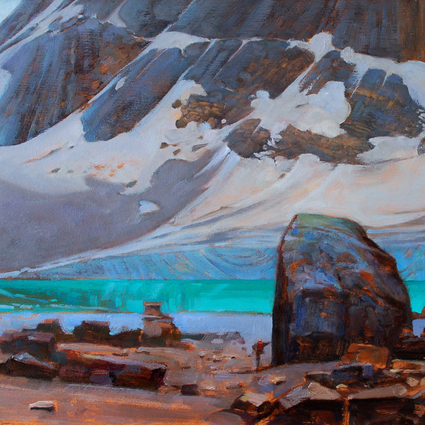 Edith Cavel,  Jasper National Park 16 X 20 in. oil on prepared board. copyright Brent Lynch