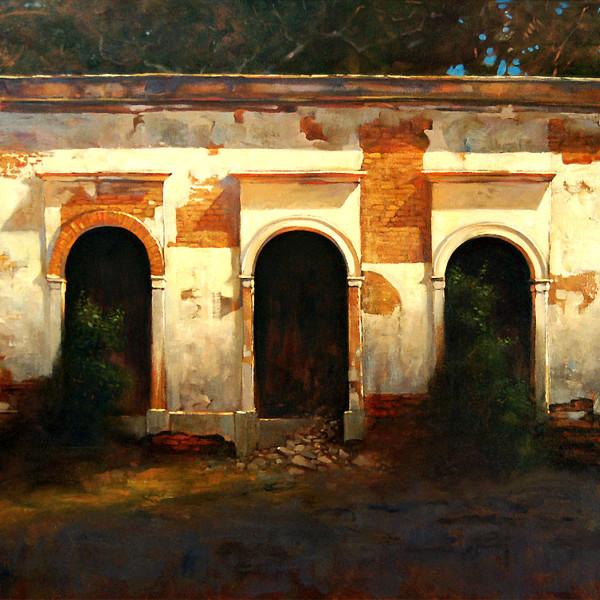 San Antonio Baja Mexico, 36 X 48 in. oil on canvas. copyright Brent Lynch