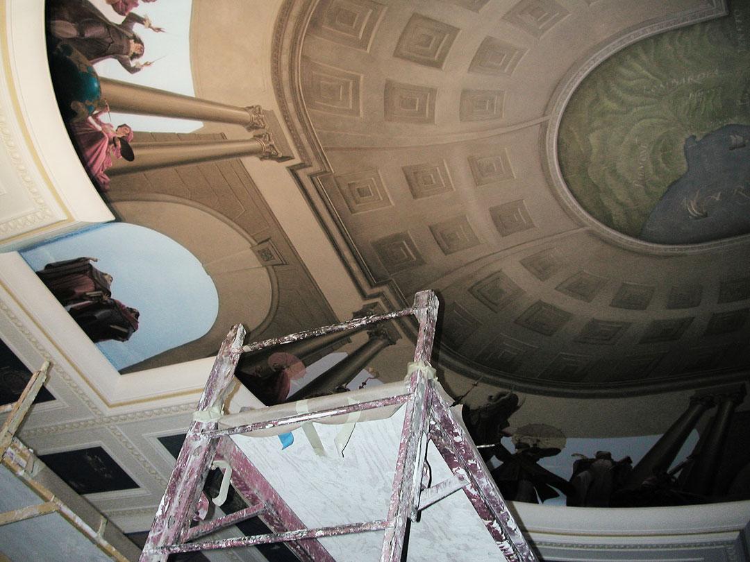Mural installation in progress. copyright Brent Lynch