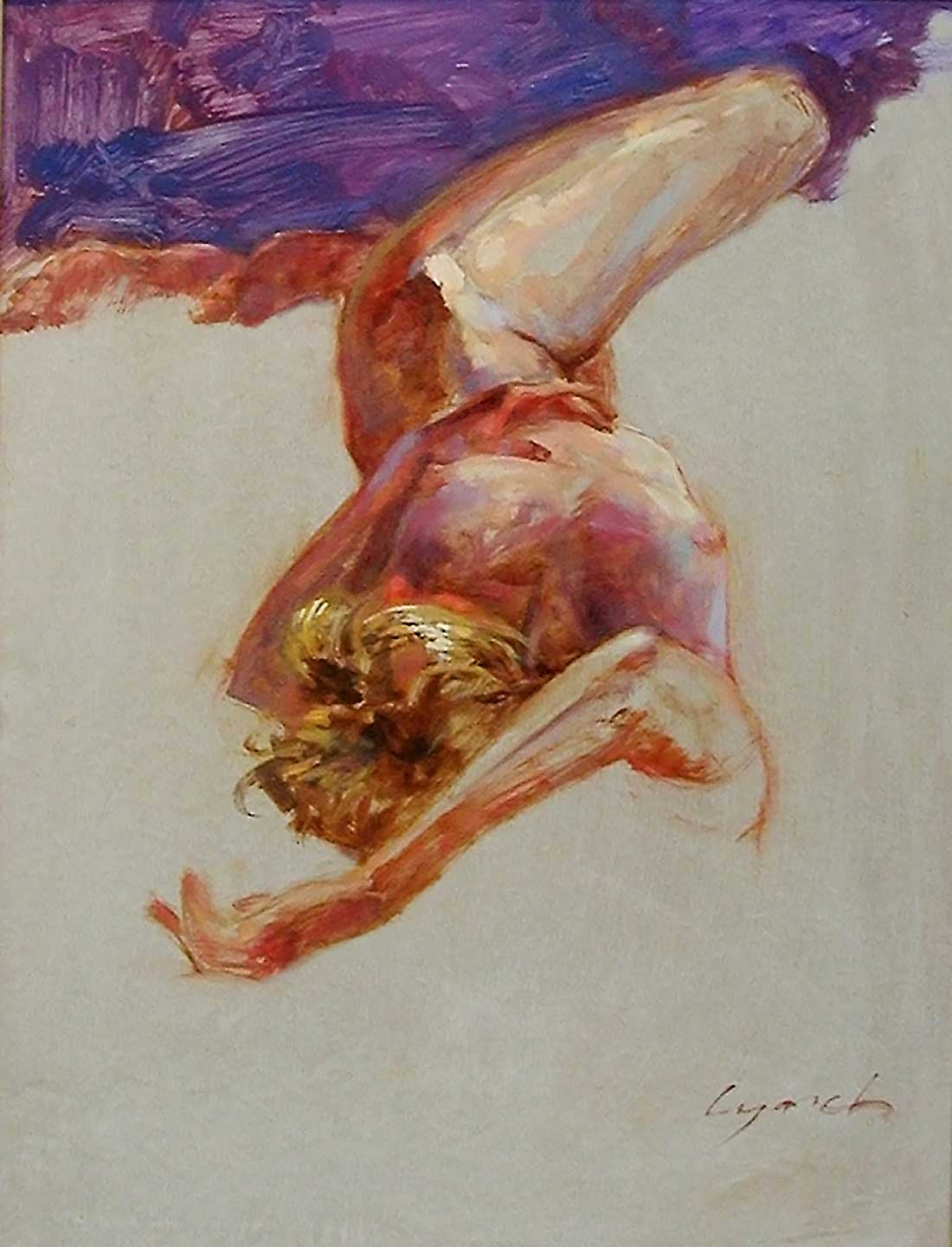'Nude Reclined 24' oil on prepared board 16 X 20 in. copyright Brent Lynch
