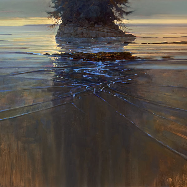 'Illuminated Stack' 36 X 48 in. oil on canvas
