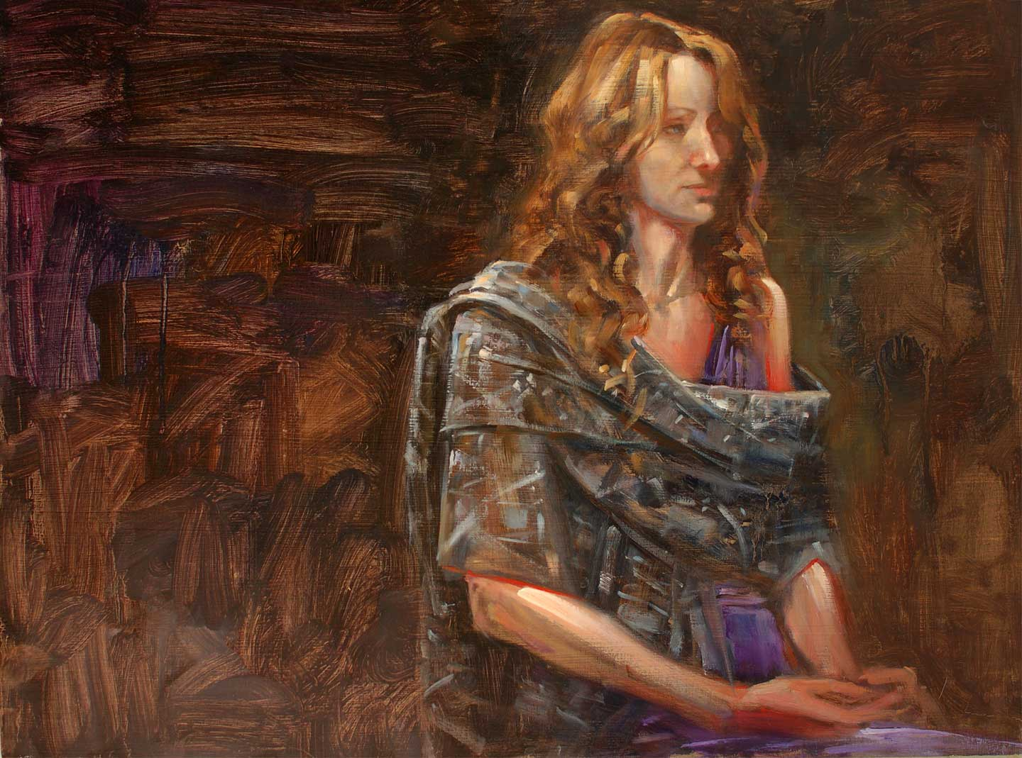 Demo study at 'Painters at Painters' 18 X 24 in. oil on prepared board. copyright Brent Lynch