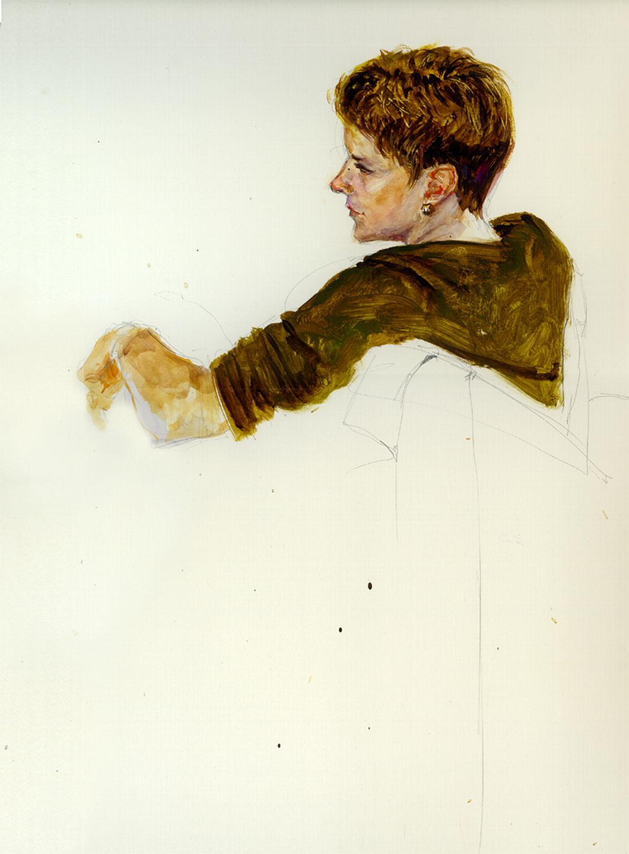 'Kim' watercolor on Bristol paper  17 X 24 in.