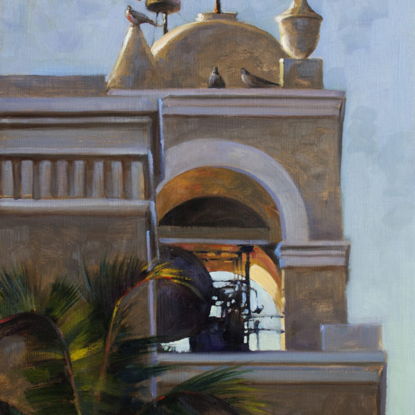 'Pigeons on Steeple' 18 X 24 in oil on prepared board