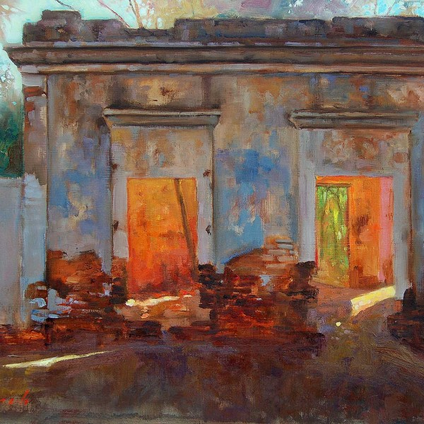 'Old Casa Ruin' San Antonio, Baja Mexico. 2005 16 X 20 in. oil on prepared board