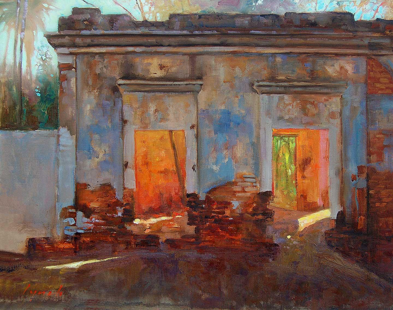 'Old Casa Ruin' San Antonio, Baja Mexico. 2005 16 X 20 in. oil on prepared board