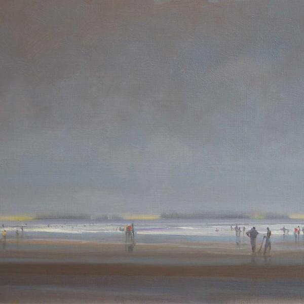 Long Beach BC 2012. 11 X 14 in. oil on prepared board.