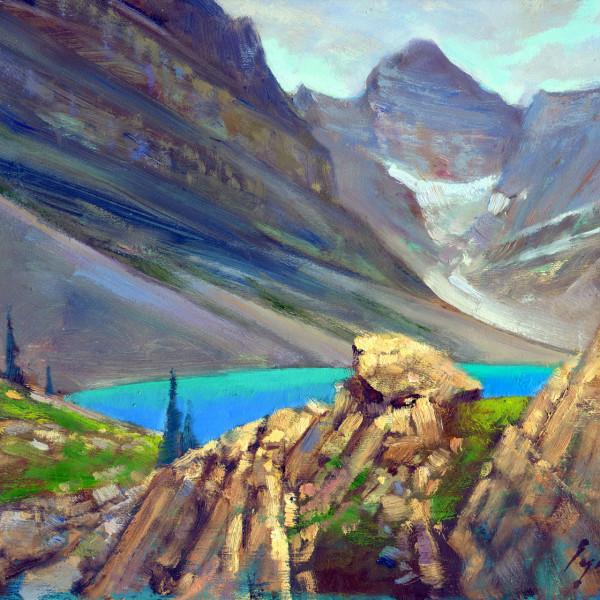 Yoho National Park. 8 X 10 in. oil on prepared board.