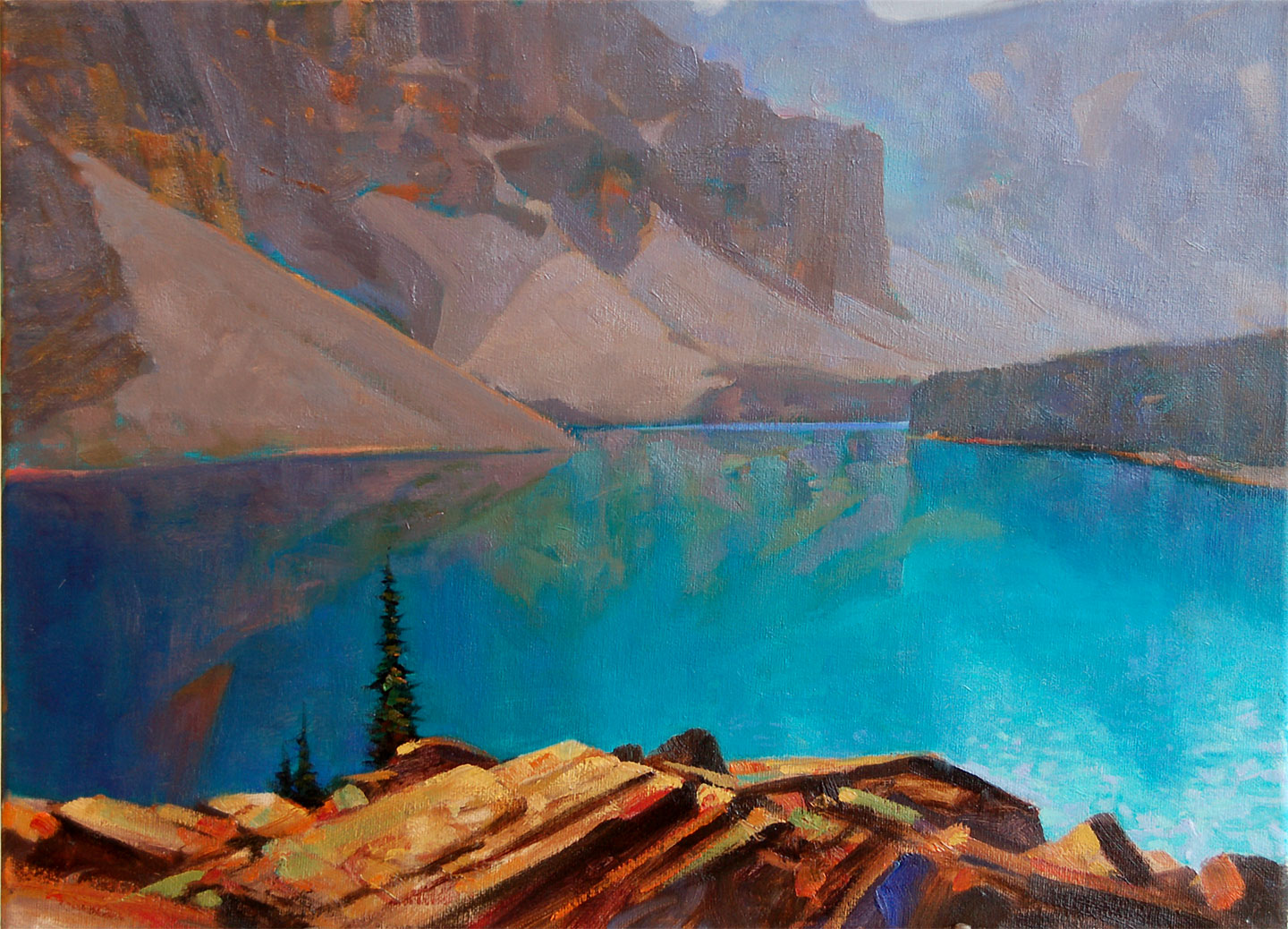 'Above Moraine' Banff National Park  16 X 20 in. oil on canvas