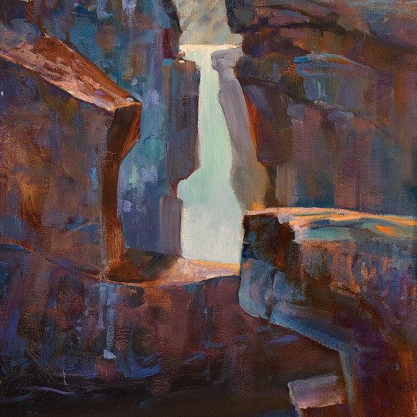 Narin Falls, Whistler BC. 16 X 20 in. oil on canvas