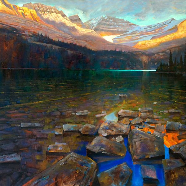 Lake O'Hara, Yoho National Park, 36 X 48 in. oil on canvas. copyright Brent Lynch
