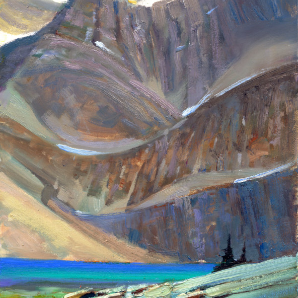 Yoho National Park. 8 X 10 in. oil on prepared board