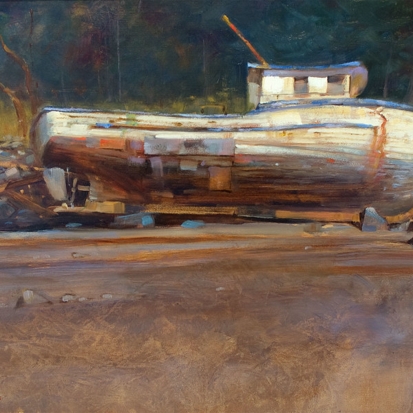 Quadra Island BC 2010, 16 X 20 in. oil on prepared board. copyright Brent Lynch.