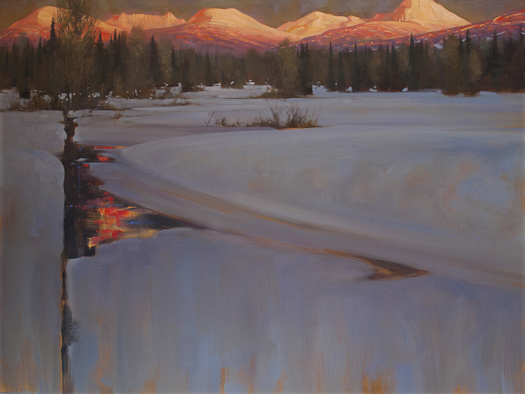 'Range On Fire' Whistler 36 X 48 in. oil on canvas