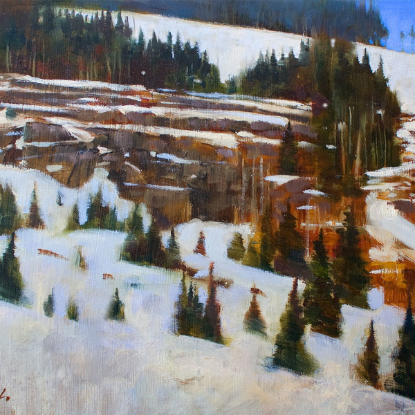 'Mt. Washington Ridge'  14 X 18 in. oil on prepared board.