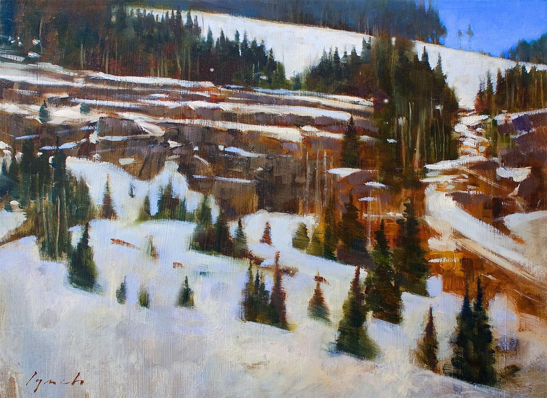 'Mt. Washington Ridge'  14 X 18 in. oil on prepared board.