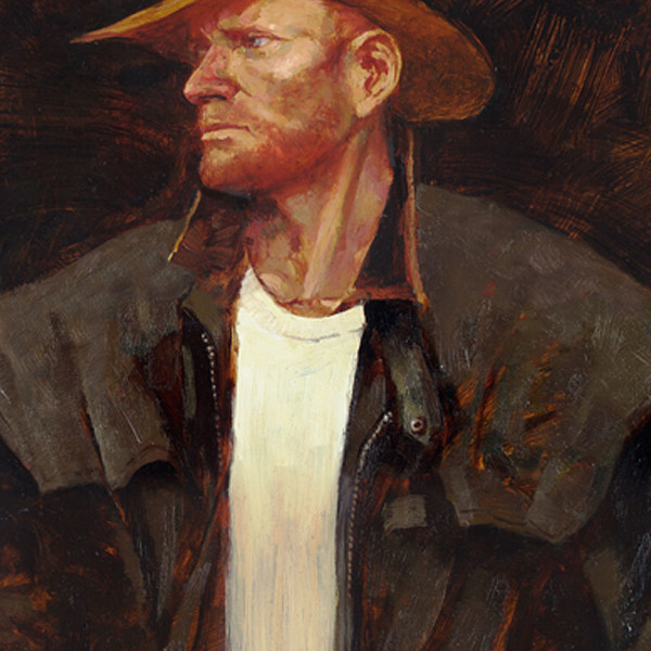'Sam' life study portrait  oil on prepared board, 16 X 20 in. copyright Brent Lynch.