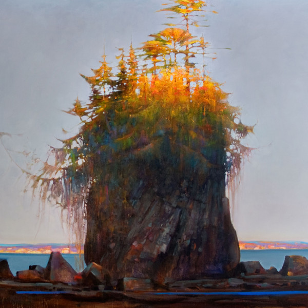 'Stack' Broken Islands  48 X 60 in. oil on canvas, Mountain Galleries, Whistler.-SOLD  copyright Brent Lynch