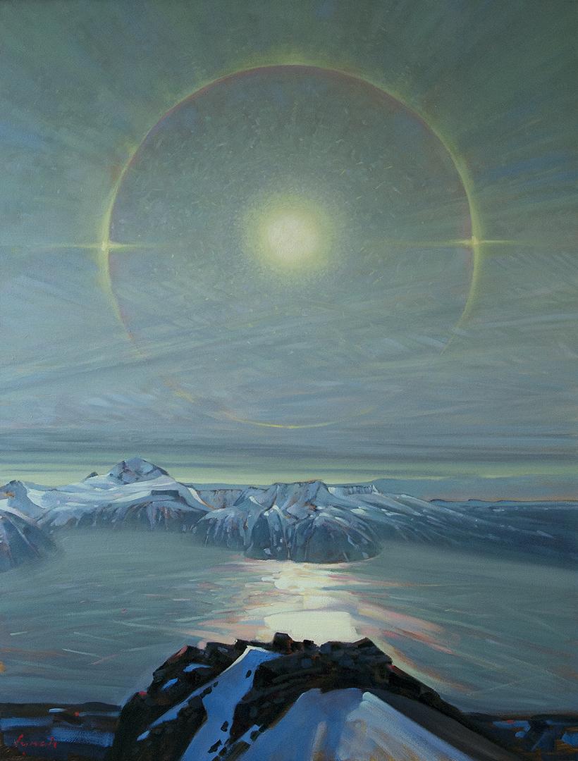 'Storm Ring' Garibaldi Lake, 48 X 36 in oil on canvas - Mountain Galleries