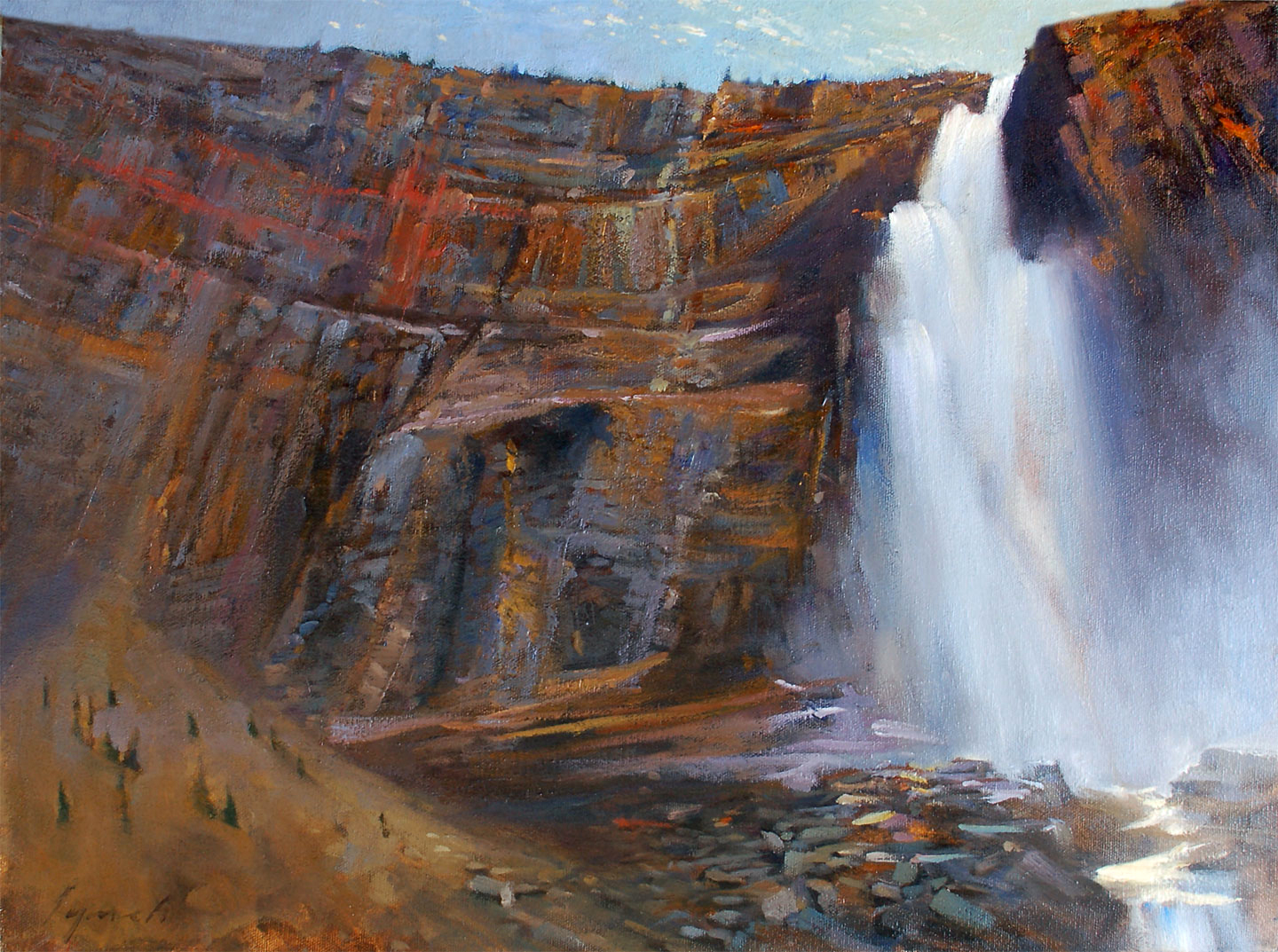'Takakkaw Falls' Yoho Nat. Park oil on canvas 16 X 20 in. 2007