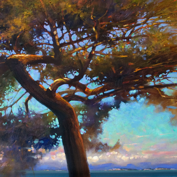 'Twisted Fir' 24 X 36 in. oil on canvas - Avenue Gallery. copyright Brent Lynch