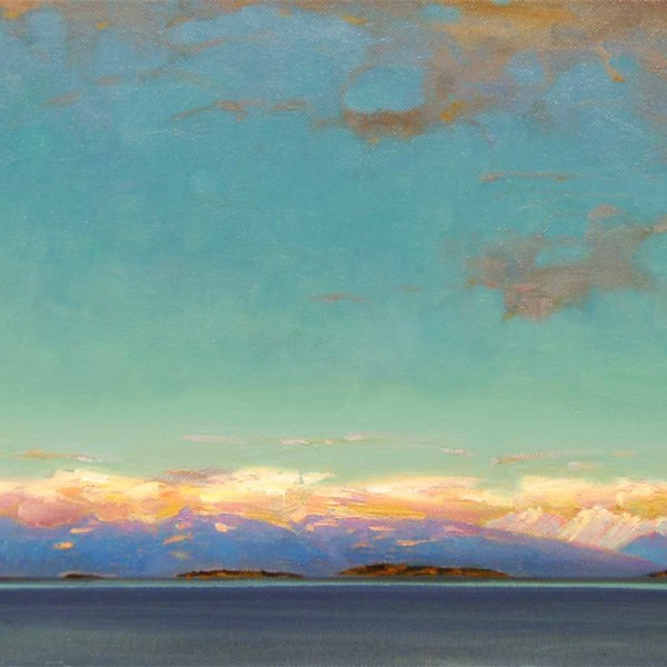 Nanoose Bay BC 2003. 10 X 14 in. oil on canvas.