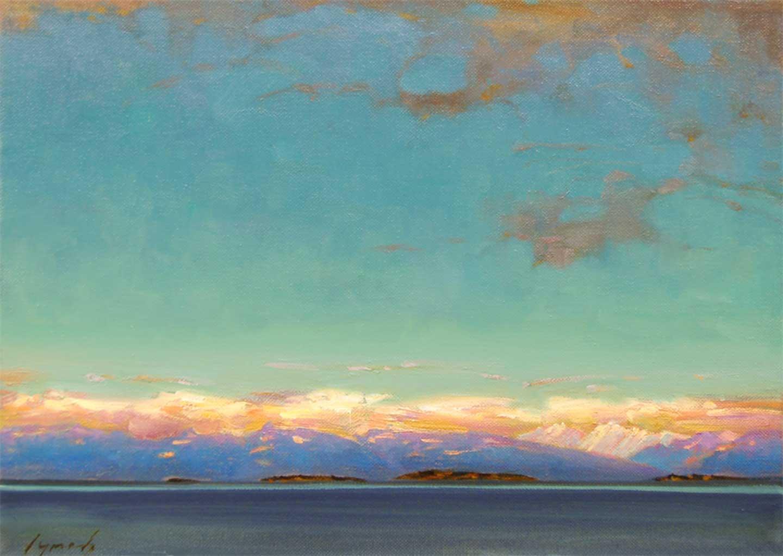 Nanoose Bay BC 2003. 10 X 14 in. oil on canvas.