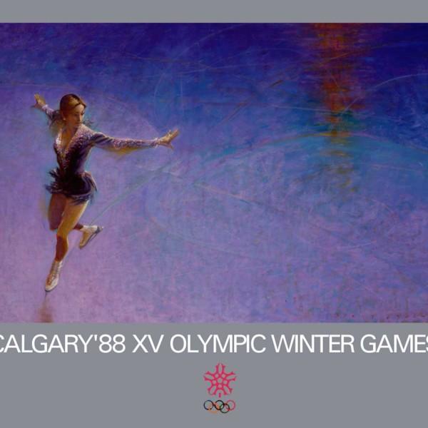 1988 Calgary Olympics official poster art