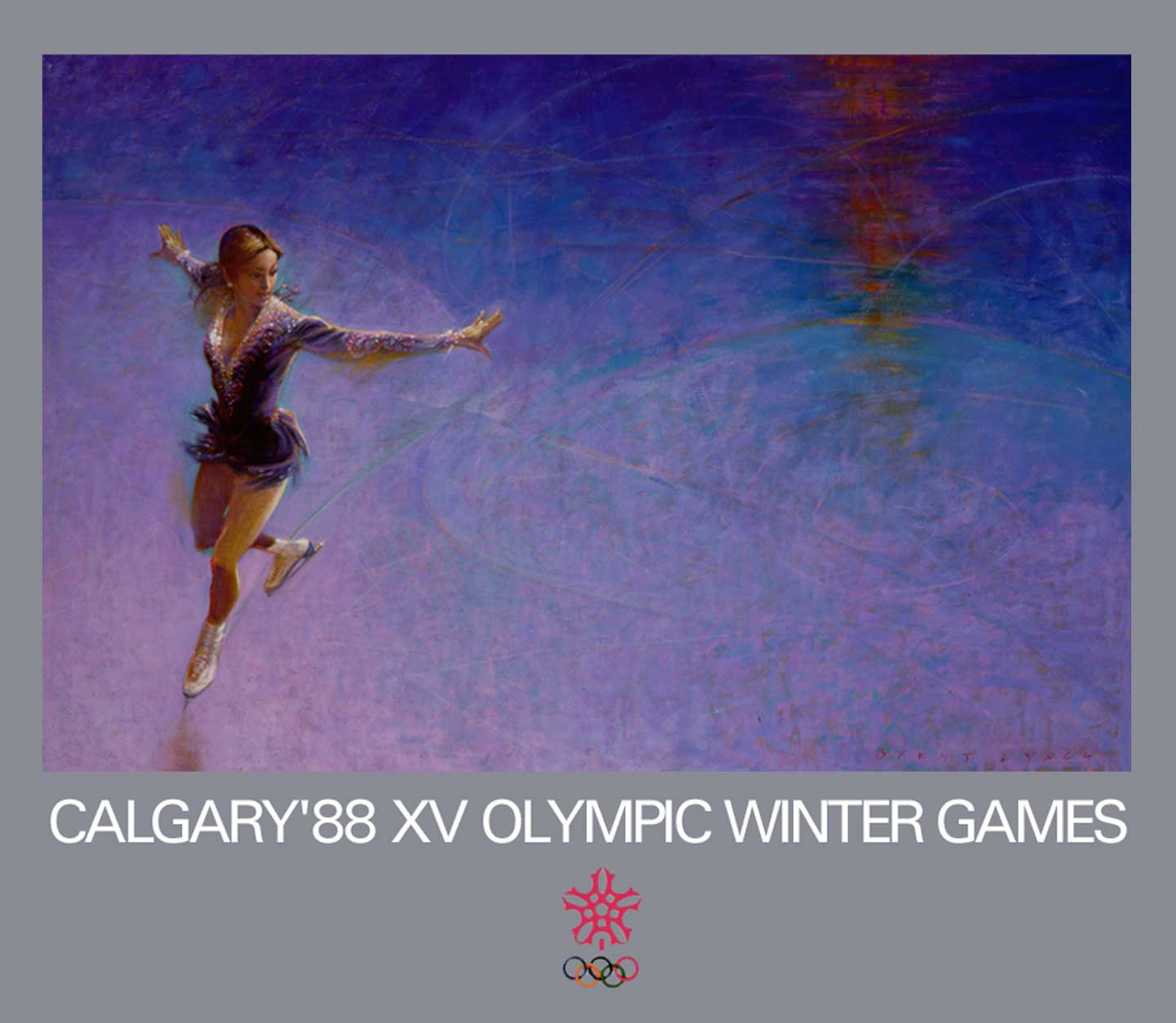 1988 Calgary Olympics official poster art